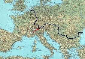 donauverlauf karte europa
